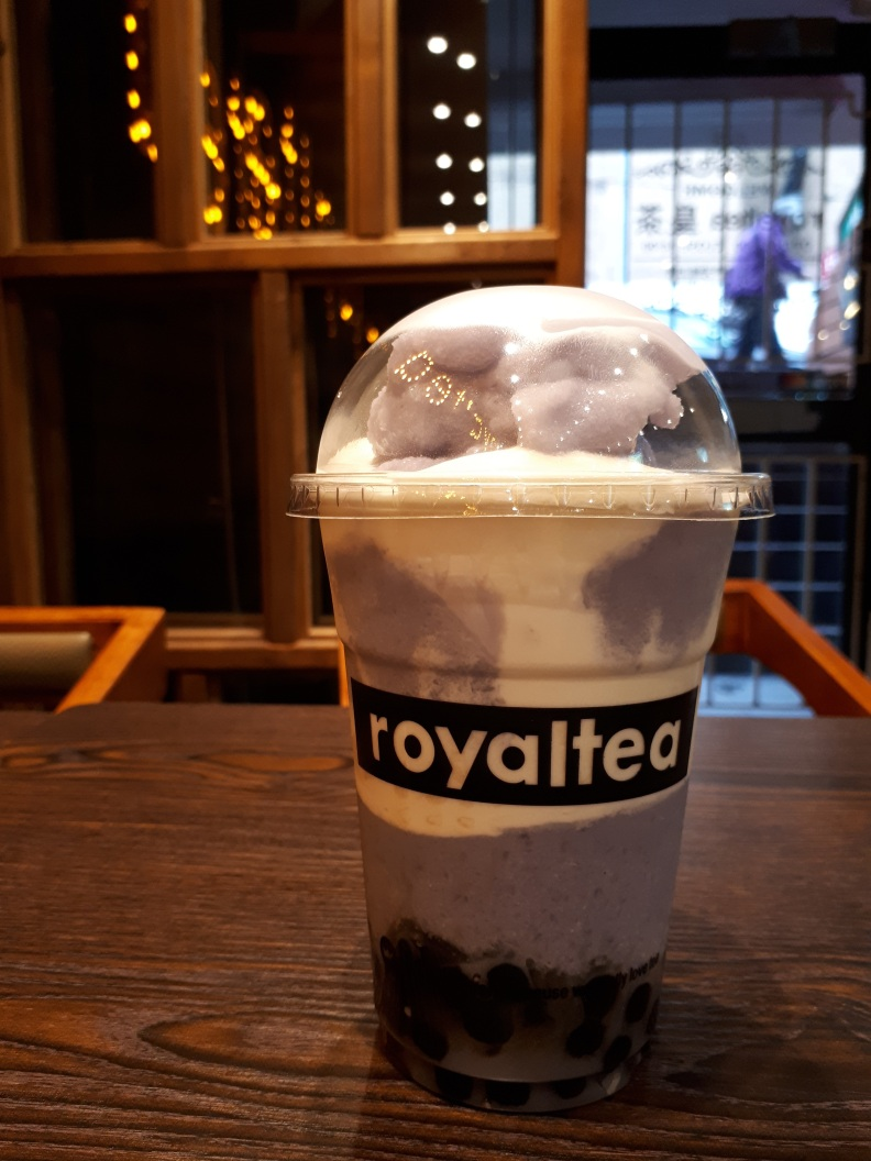 taro slush from royaltea